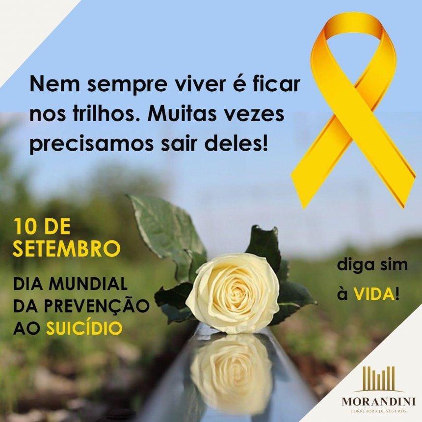 A Morandini apoia as ações de prevenção ao suicídio.