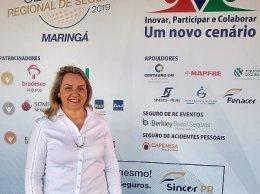 A corretora Sirlei Morandini participou do evento em Maringá.