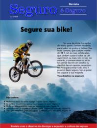 A edição de maio aborda seguro para bikes.