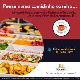 O Restaurante Casa da Su foi uma das empresas divulgadas pela campanha da Morandini.